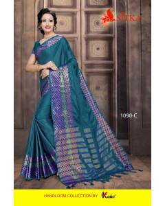BUNDEL OF 6 SAREE TORAN SILK 1090 COTTON SILK WHOLESALE SAREE