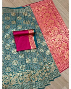Jumble of 06 Wholesale Banarasi Silk Saree - catalog chandra Vol 53