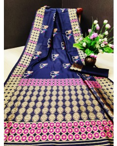 Jumble of 06 wholesale Soft Silk Saree - Catalog Mani Vol 61