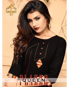 bundle of 6 kurti with plazzo Plazzo Queen-7 by RT