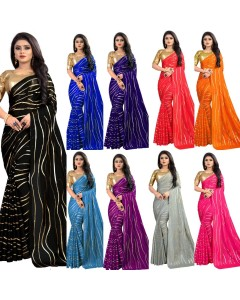 JUMBLE OF 9 WHOLESLAE SAREE CATALOG SANIYA SILK