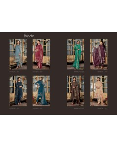 BUNDLE OF 8 WHOLESALE SALWAR SUIT CATALOG BRINDA BY  SAHIBA