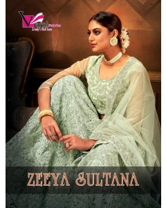 BUNDLE OF 4 WHOLESALE LEHENGA CHOLI CATALOG Zeeya-Sultana BY Varni Fabrics