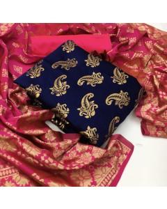 JUMBLE OF 8 WHOLESALE SALWAR SUIT CATALOG Banarasi Silk Dress 22