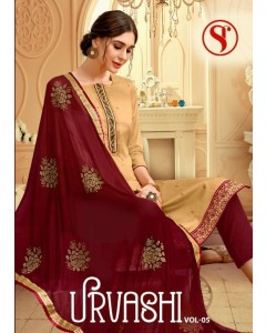 BUNDLE OF 8 WHOLESALE SALWAR SUIT CATALOG Urvashi v-5 BY SWEETY FASHION