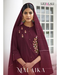 BUNDLE OF 8 WHOLESALE SALWAR SUIT CATALOG MALAIKA BY LILY & LALI
