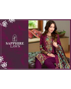 BUNDLE OF 10 WHOLESALE SALWAR SUIT CATALOG  SAPPHIRE LAWN