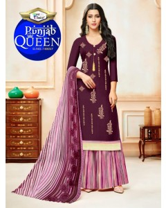 BUNDLE OF 10 WHOLESALE SALWAR SUIT CATALOG PUNJAB QUEEN  BEST CHOICE
