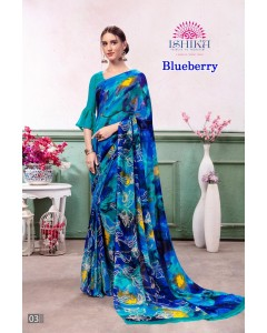 BUNDLE OF 4 WHOLESALE SAREE CATALOG BLUEBERRY BY ISHIKA