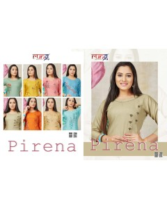 BUNDLE OF 8 WHOLESALE KURTI CATALOG PIRENA BY RUNG