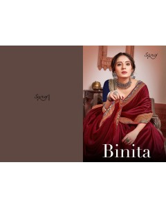 BUNDLE OF 8 WHOLESALE SAREE CATALOG BINITA BY SAROJ