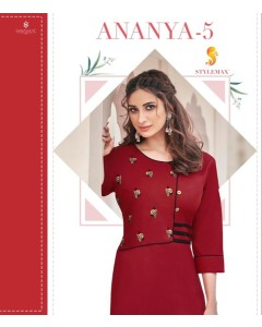BUNDLE OF 11 WHOLESALE KURTI CATALOG ananya  -5 BY STYLEMAX