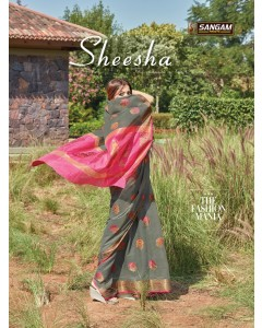 BUNDLE OF 6 WHOLESALE SAREE CATALOG SHEESHA BY SANGAM SAREE