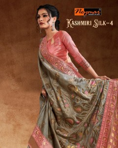 BUNDLE OF 6 WHOLESALE SAREE CATALOG Kashmiri Silk-4 BY NEYMAR