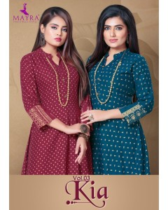 BUNDLE OF 8 WHOLESALE KURTI CATALOG KIA VOL-3 BY MAYRA