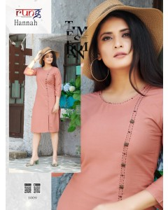 BUNDLE OF 10 WHOLESALE KURTI CATALOG HANNAH BY RUNG