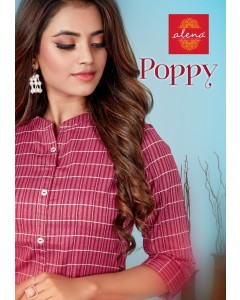 BUNDLE OF 6 WHOLESALE KURTI CATALOG POPPY BY : ALENA