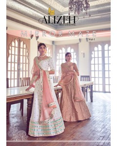 BUNDLE OF 2 WHOLESALE LEHENGA CATALOG MIRROR MAZE VOL 1 BY ALIZEH