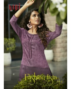 BUNDLE OF 6 WHOLESALE KURTI CATALOG Fashion Fiesta Vol - 04 BY KIVI