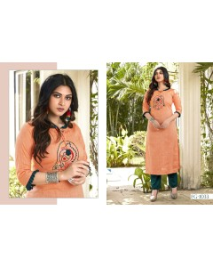 BUNDLE OF 6 WHOLESALE KURTI CATALOG KARISHA VOL  11 BY FASHION GALLERIA