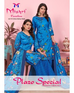 BUNDLE OF 10 WHOLESALE SALWAR SUIT CATALOG PLAZO SPECIAL-5 BY MISHRI CREATION *