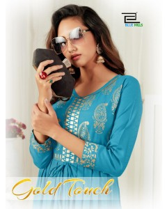 BUNDLE OF 6 WHOLESALE KURTI CATALOG    GOLD TOUCH BY BLUE HILLS
