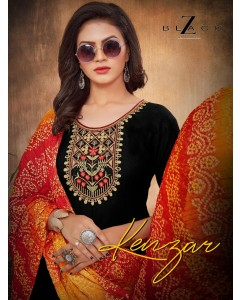 BUNDLE OF 6 WHOLESALE SALWAR SUIT CATALOG Kenzar BY Z-BLACK