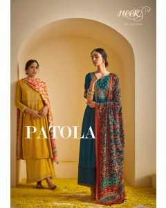 BUNDLE OF 8 WHOLESALE SALWAR SUIT CATALOG HEER PATOLA  BY KIMORA