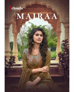 BUNDLE OF 10 WHOLESALE SALWAR SUIT CATALOG      MAIRAA BY  7  CLOUDS