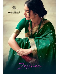 BUNDLE OF 10 WHOLESALE SAREE CATALOG Zaffran_ BY KASHVI