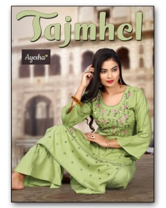 BUNDLE OF 8 WHOLESALE KURTI CATALOG TAJMHEL BY AYESHA