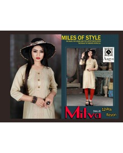 BUNDLE OF 12  WHOLESALE KURTI CATALOG  MITWA BY AAGYA