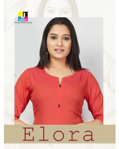 BUNDLE OF 6 WHOLESALE KURTI CATALOG ELORA BY M SHYAMLAL(