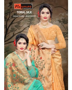 BUNDLE OF 6 WHOLESALE SAREE CATALOG Toral Silk BY NEYMAR