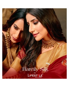 BUNDLE OF 6 WHOLESALE SAREE CATALOG CRYSTAL SILK BY LIFESTYLE