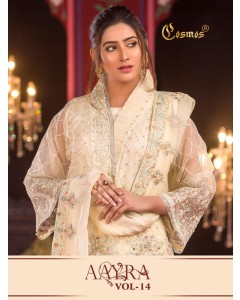BUNDLE OF 6 WHOLESALE SALWAR SUIT CATALOG  Aayra vol 14 BY  COSMOS FASHION