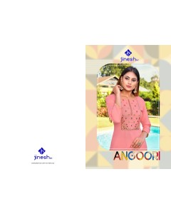 BUNDLE OF 10 WHOLESALE KURTI CATALOG  ANGOORI VOL-1 BY JINESH NX