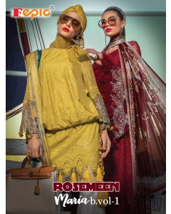 BUNDLE OF 3 WHOLESALE SALWAR SUIT CATALOG ROSEMEEN * MARIA B LAWN VOL 1 FEPIC