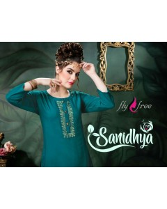 BUNDLE OF 6  WHOLESALE KURTI CATALOG   Sanidya vol.2 BY FLY FREE