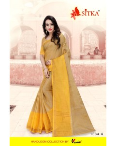 BUNDLE OF 4   WHOLESALE SAREE CATALOG  LILEN KHADI 1034 BY SITKA