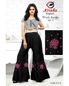 BUNDLE OF 4 WHOLESALE  Sarara  CATALOG Work Sarara Vol-3 BY  KRISHA EXPORT
