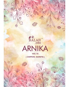 BUNDLE OF 12 WHOLESALE SALWAR SUIT CATALOG  ARNIKA vol 10 * BY BALAJI