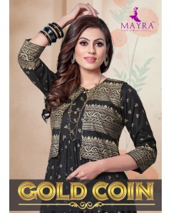 BUNDLE OF 8 WHOLESALE KURTI CATALOG GOLD COIN BY MAYRA