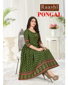 BUNDLE OF 8 WHOLESALE KURTI CTALOG PONGAL 2 BY     RAASHI