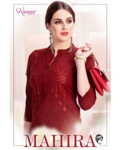 BUNDLE OF 8 WHOLESALE KURTI CATALOG   MAHIRA BY KANASU