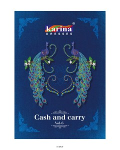 BUNDLE OF 12 WHOLESALE SALWAR SUIT CATALOG  Karina Cash & Carry vol 6
