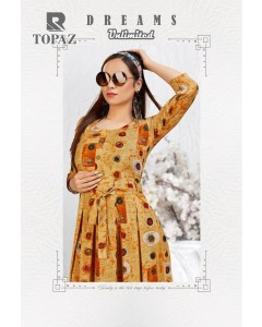 BUNDLE OF 8 WHOLESALE KURTI  CATALOG  Topaz  BY RAASHI