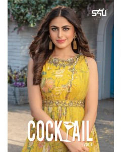 "BUNDLE OF 5 WHOLESALE KURTI CATALOG  Cocktail vol.4"" BY S4u by Shivali"