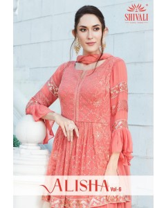 BUNDLE OF 5 WHOLESALE KURTI CATALOG Alisha  Vol. 6, BY Shivali