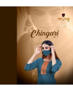 BUNDLE OF 8 WHOLESALE KURTI CATALOG           Chingari vol-4 BY Nitisha Nx